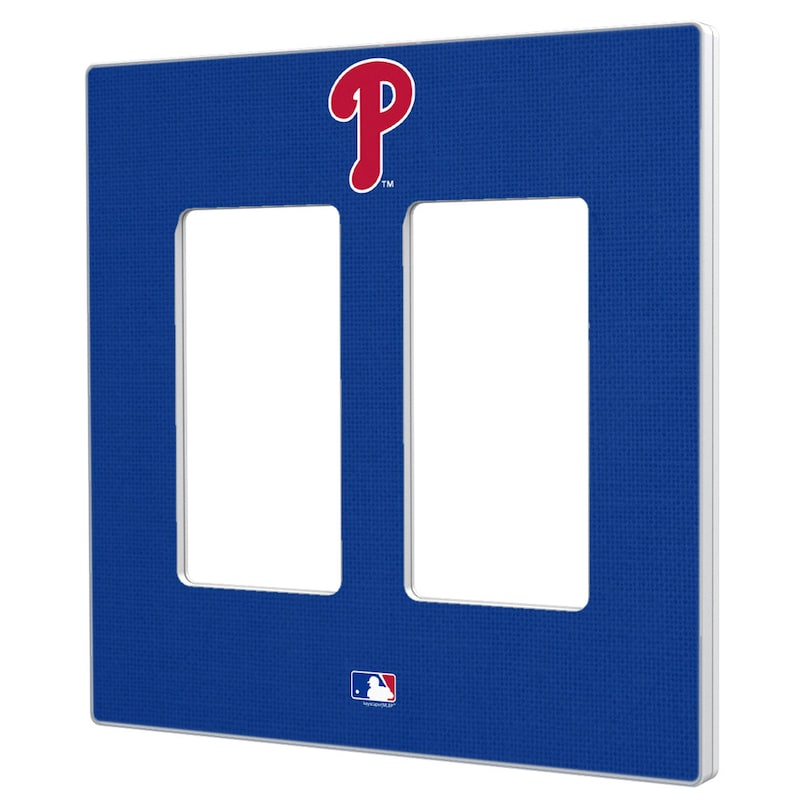 Philadelphia Phillies Solid Double Rocker Light Switch Plate