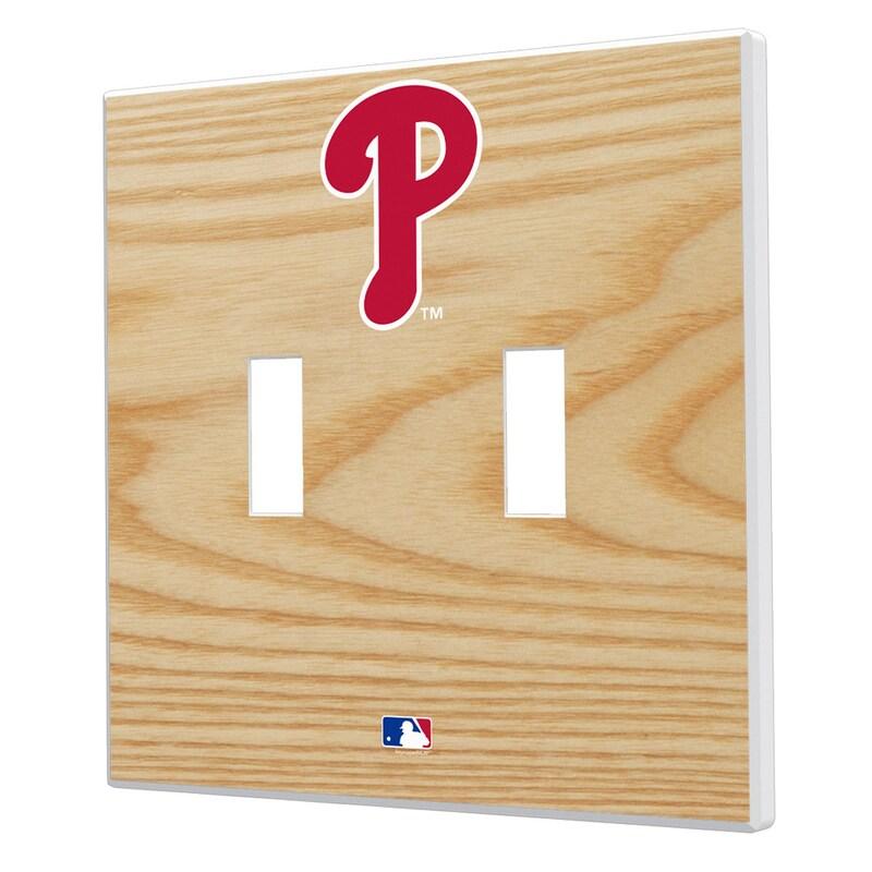 Philadelphia Phillies Baseball Bat Design Double Toggle Light Switch Plates