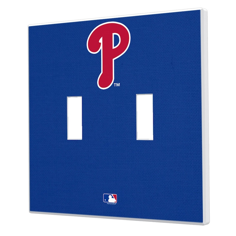 Philadelphia Phillies Solid Design Double Toggle Light Switch Plate