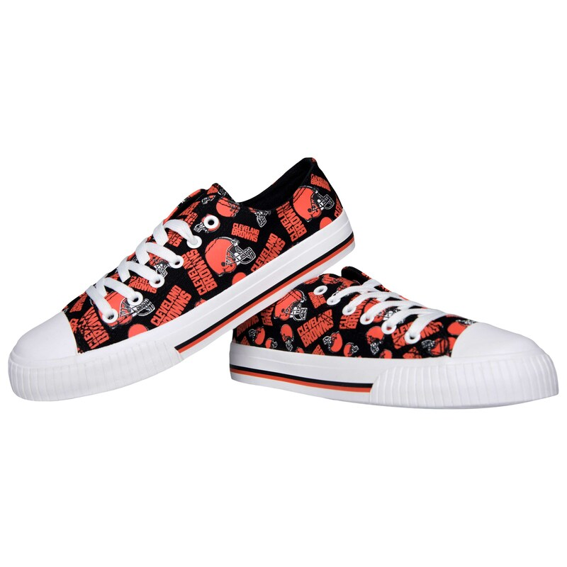 Cleveland Browns Women's Repeat Print Low Top Sneakers