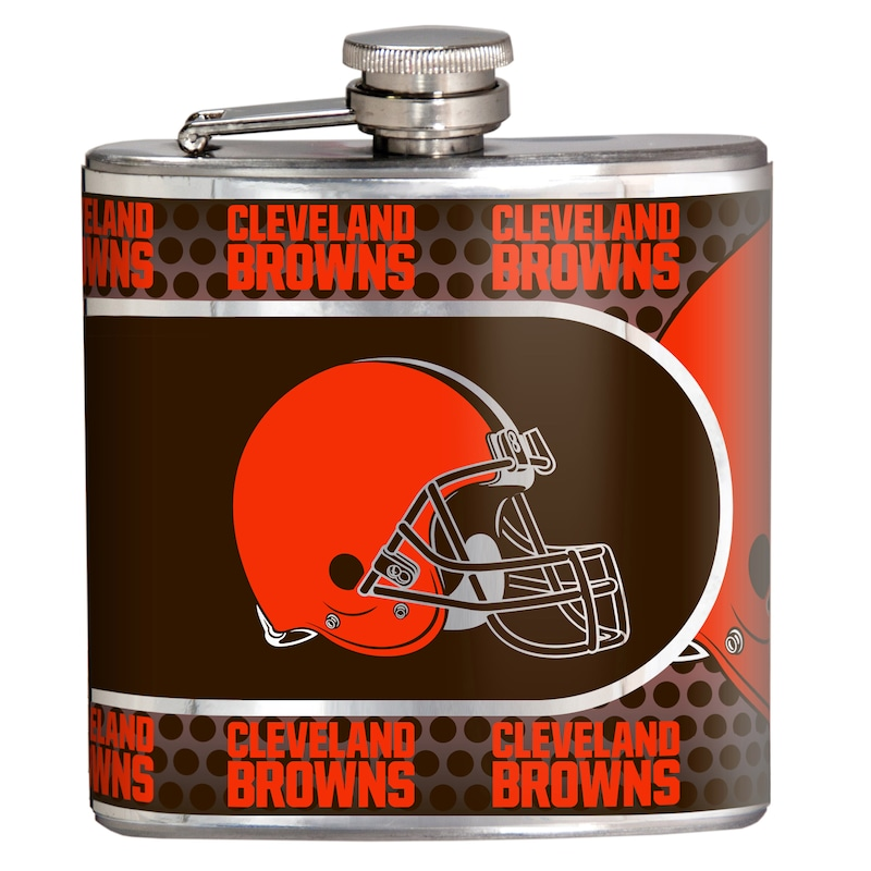 Cleveland Browns 6oz. Stainless Steel Hip Flask - Silver