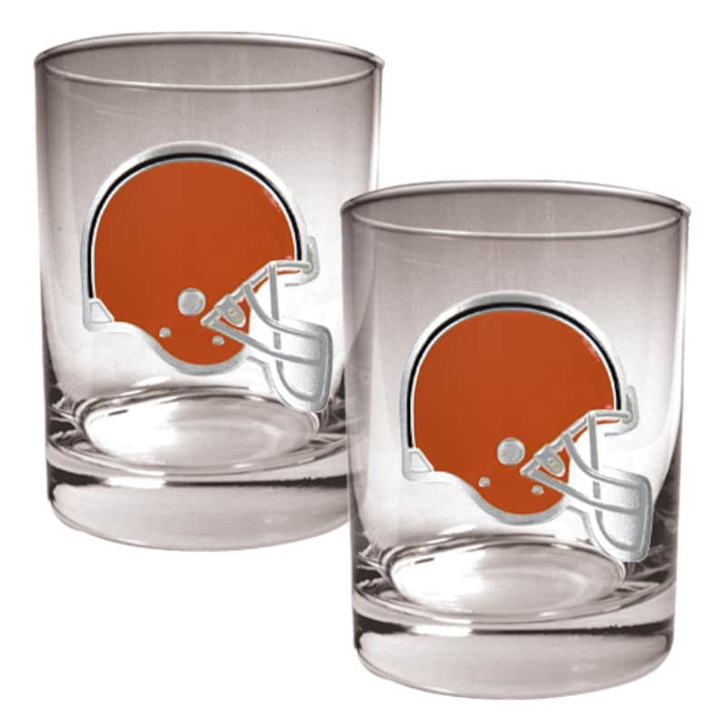 Cleveland Browns 14oz. Rocks Glass Set