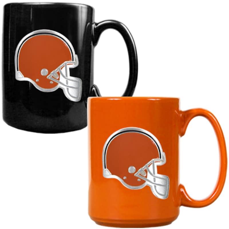 Cleveland Browns 15oz. Coffee Mug Set