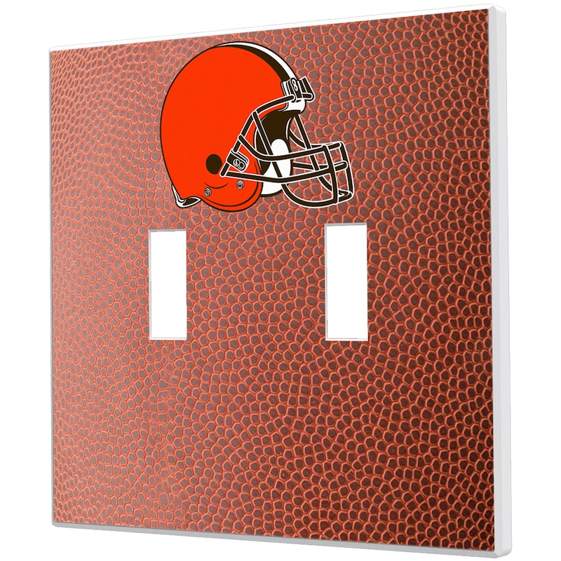Cleveland Browns Football Design Double Toggle Light Switch Plate