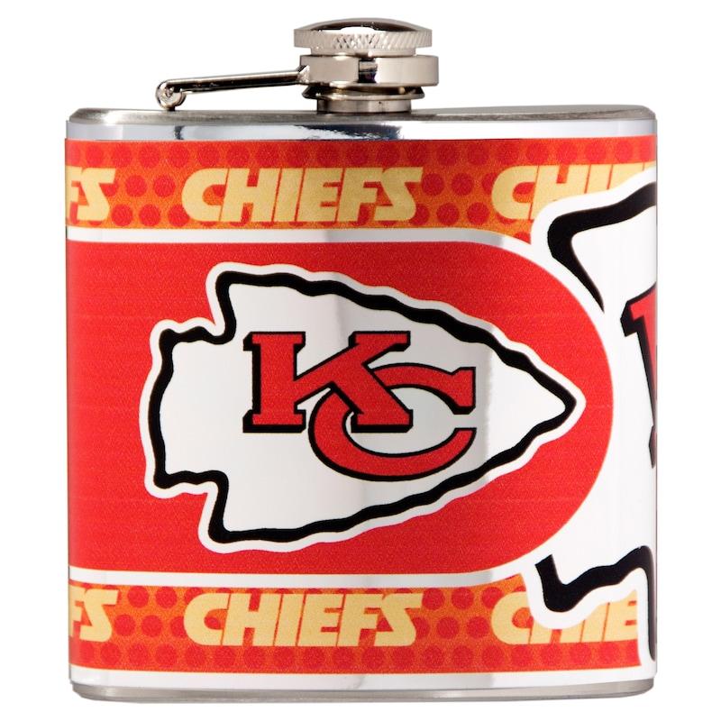 Kansas City Chiefs 6oz. Stainless Steel Hip Flask - Silver