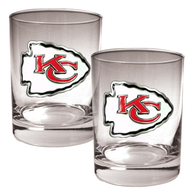 Kansas City Chiefs 14oz. Rocks Glass Set