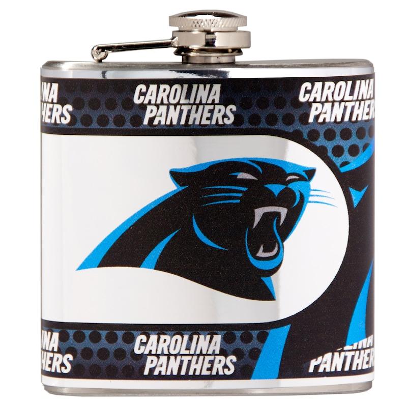 Carolina Panthers 6oz. Stainless Steel Hip Flask - Silver