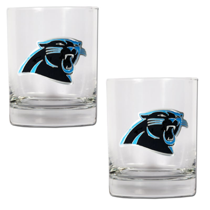 Carolina Panthers 14oz. Rocks Glass Set