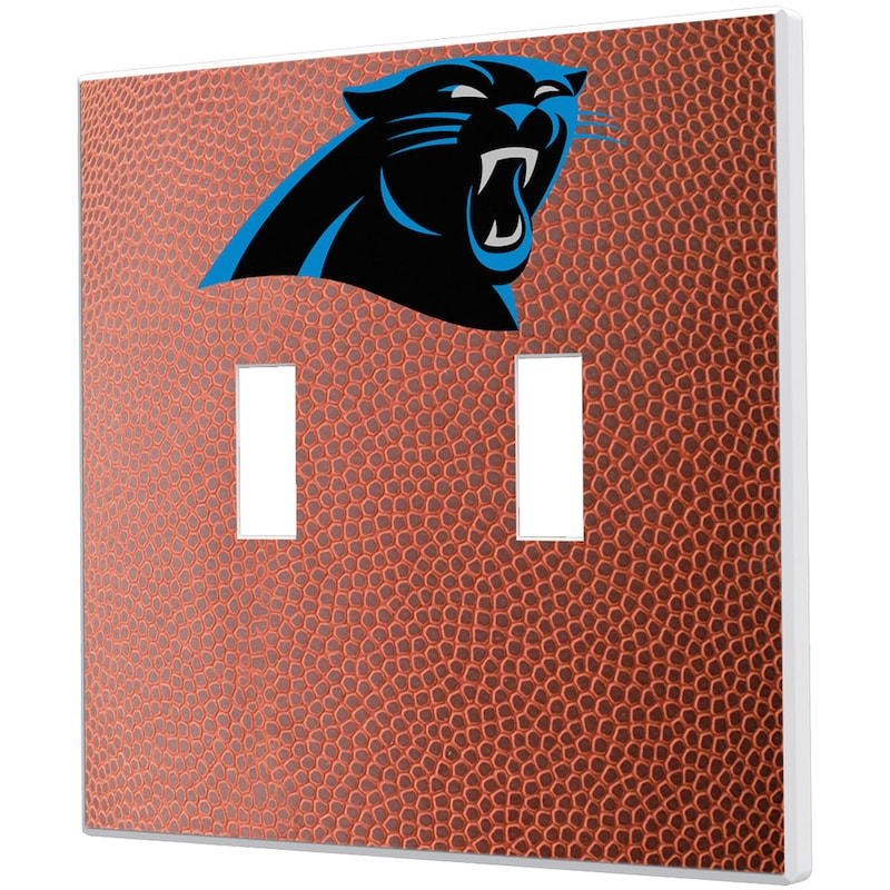 Carolina Panthers Football Design Double Toggle Light Switch Plate