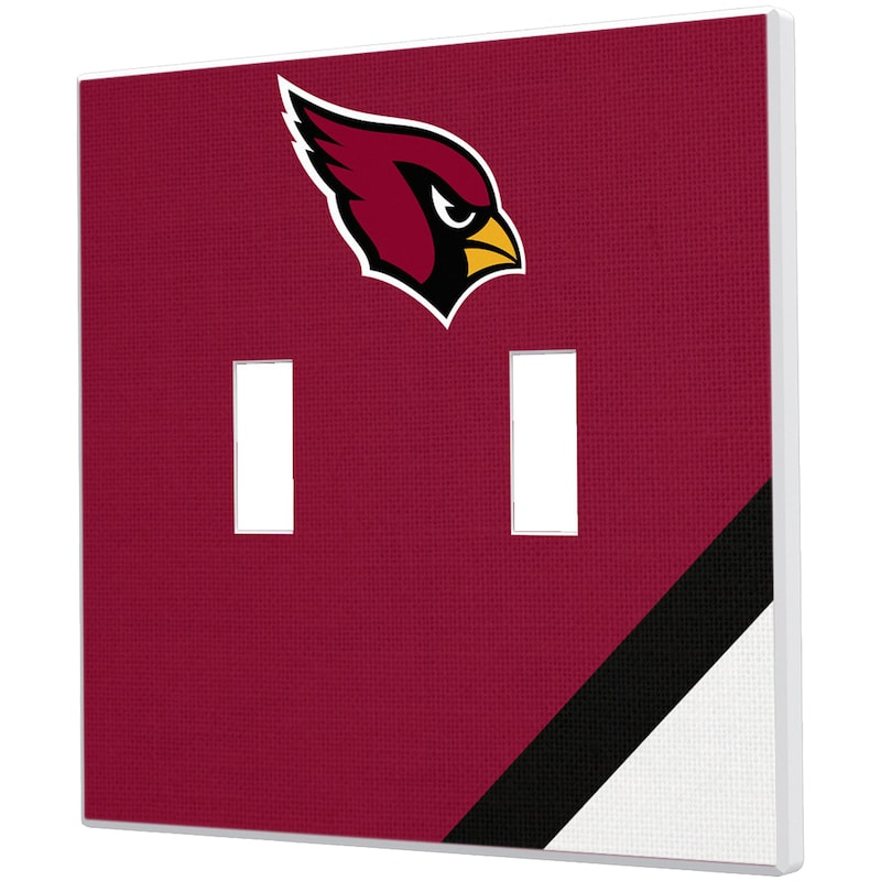 Arizona Cardinals Diagonal Stripe Double Toggle Light Switch Plate