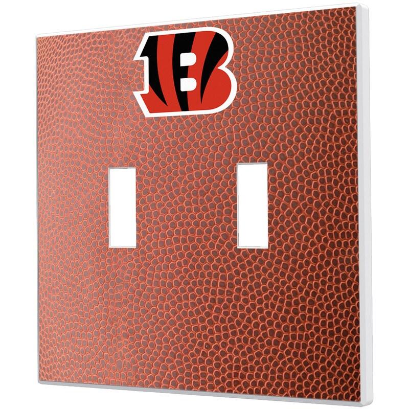 Cincinnati Bengals Football Design Double Toggle Light Switch Plate