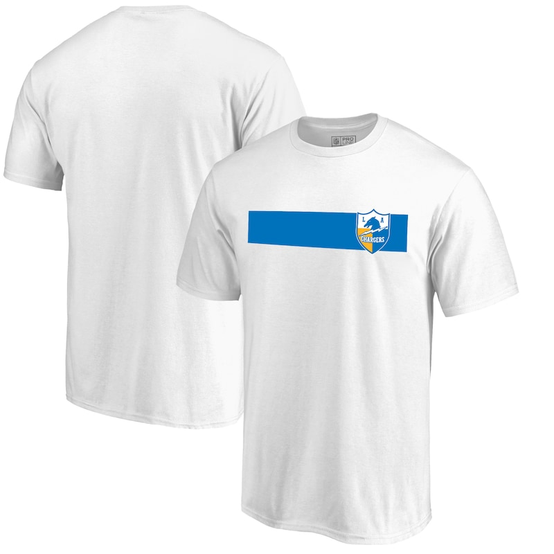 Los Angeles Chargers NFL Pro Line by Fanatics Branded Vintage Rugby Stripe T-Shirt - White