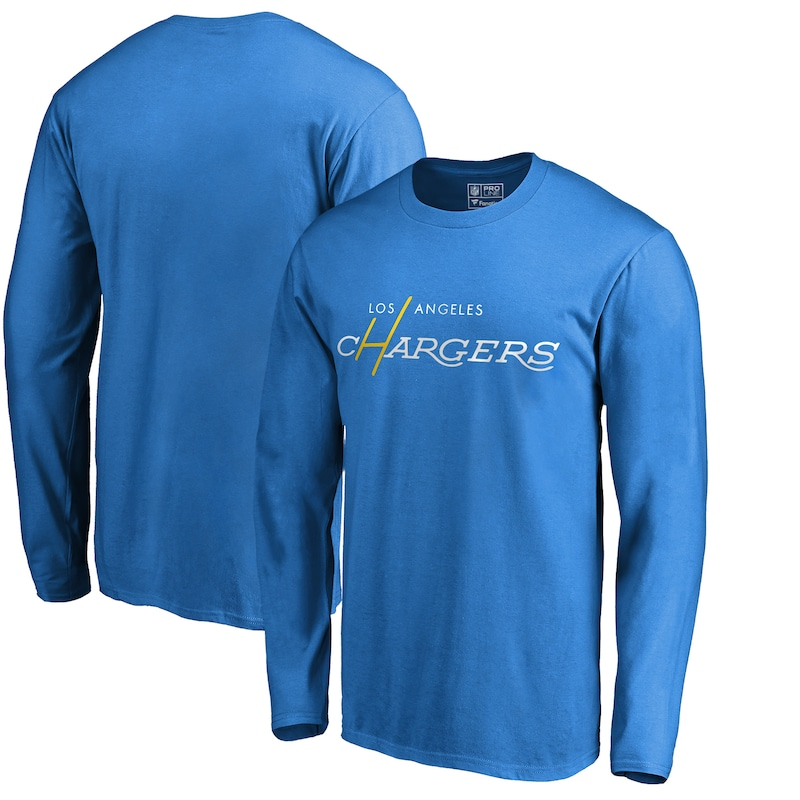 Los Angeles Chargers NFL Pro Line by Fanatics Branded Multi Color Vintage Logo Long Sleeve T-Shirt - Powder Blue