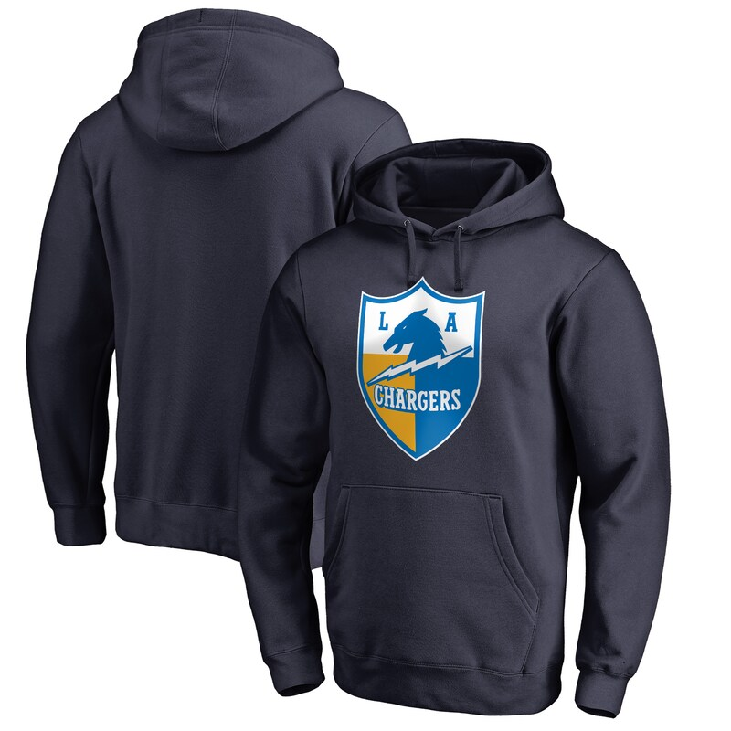 Los Angeles Chargers NFL Pro Line by Fanatics Branded Vintage Shield Logo Pullover Hoodie - Navy