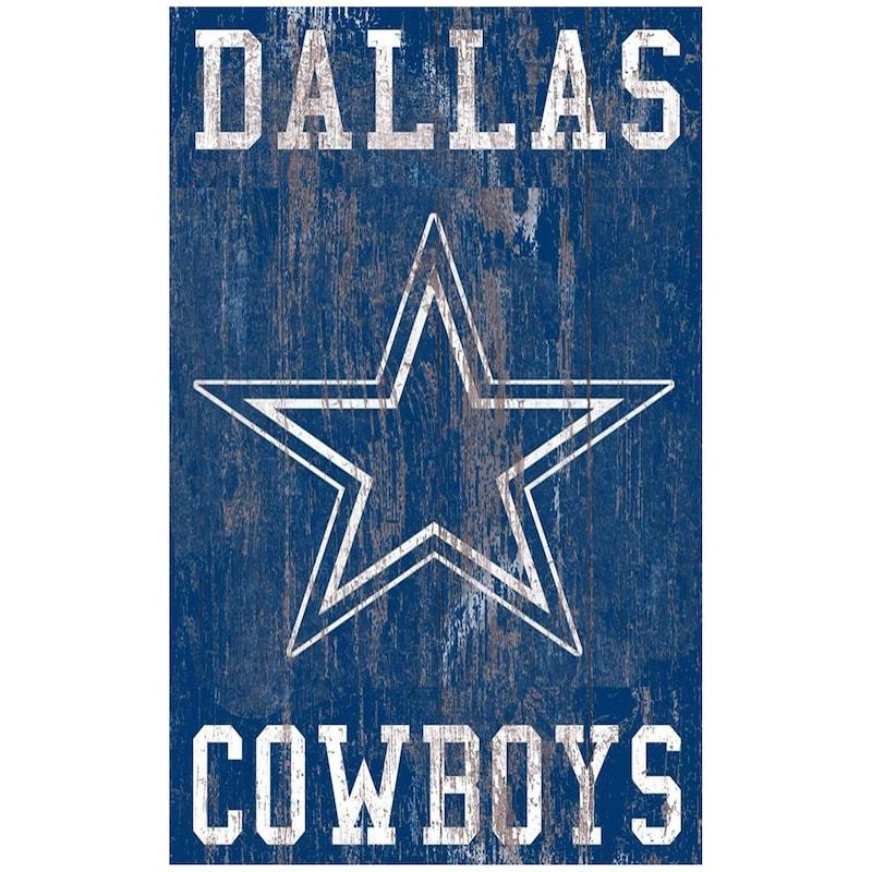 Dallas Cowboys 11'' x 19'' Heritage Distressed Logo Sign