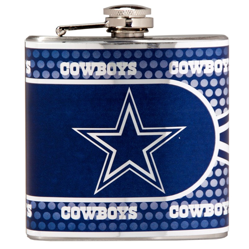 Dallas Cowboys 6oz. Stainless Steel Hip Flask - Silver