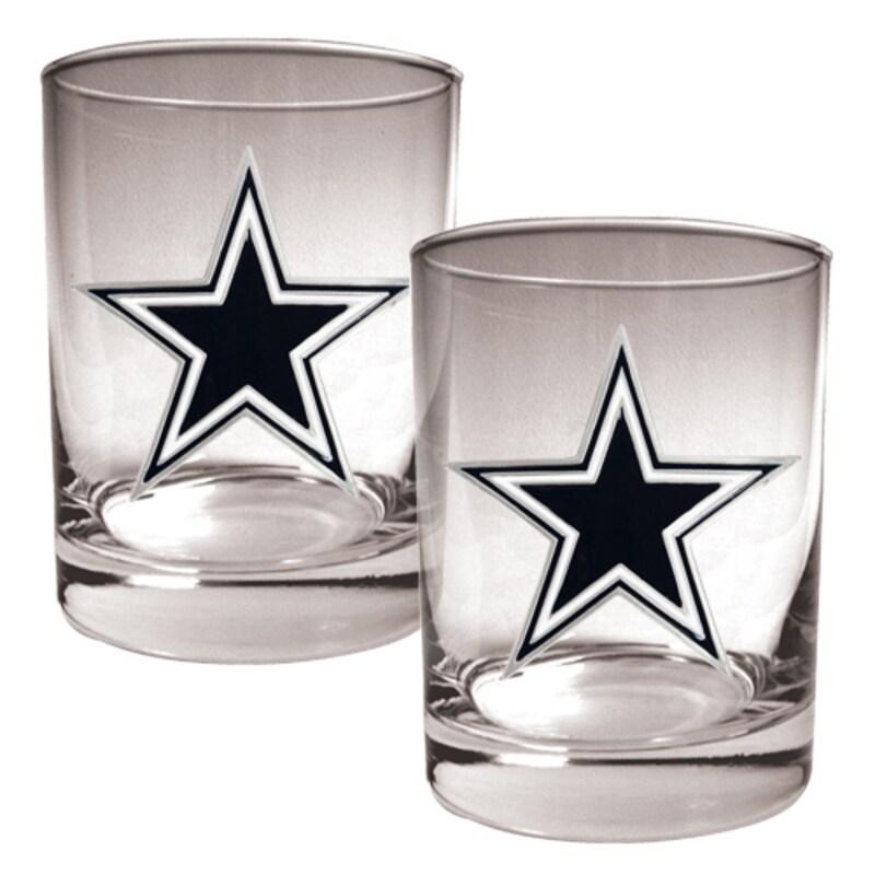 Dallas Cowboys 14oz. Rocks Glass Set