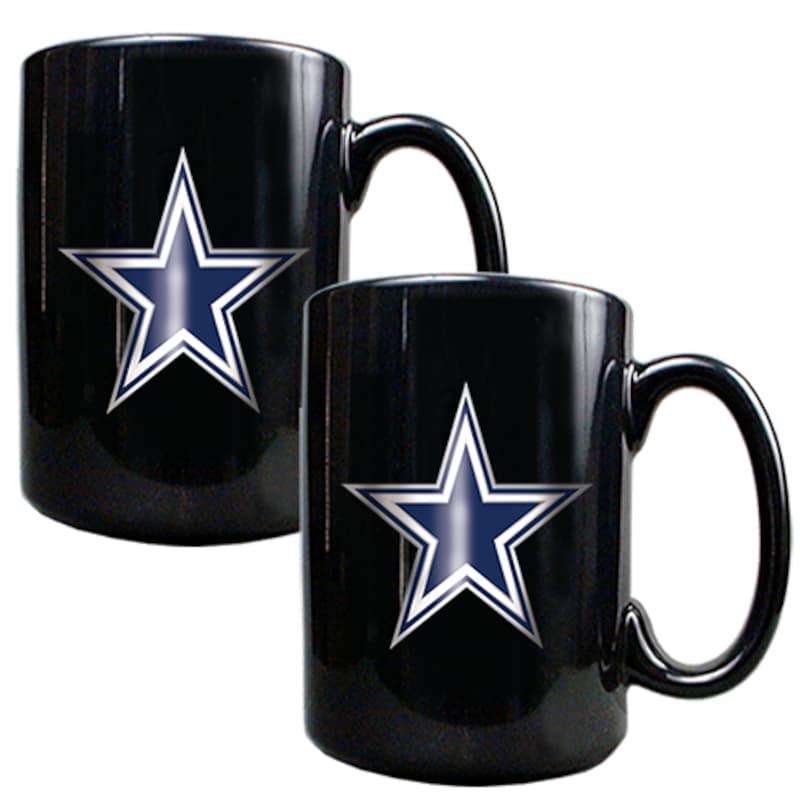 Dallas Cowboys 15oz. Coffee Mug Set - Black