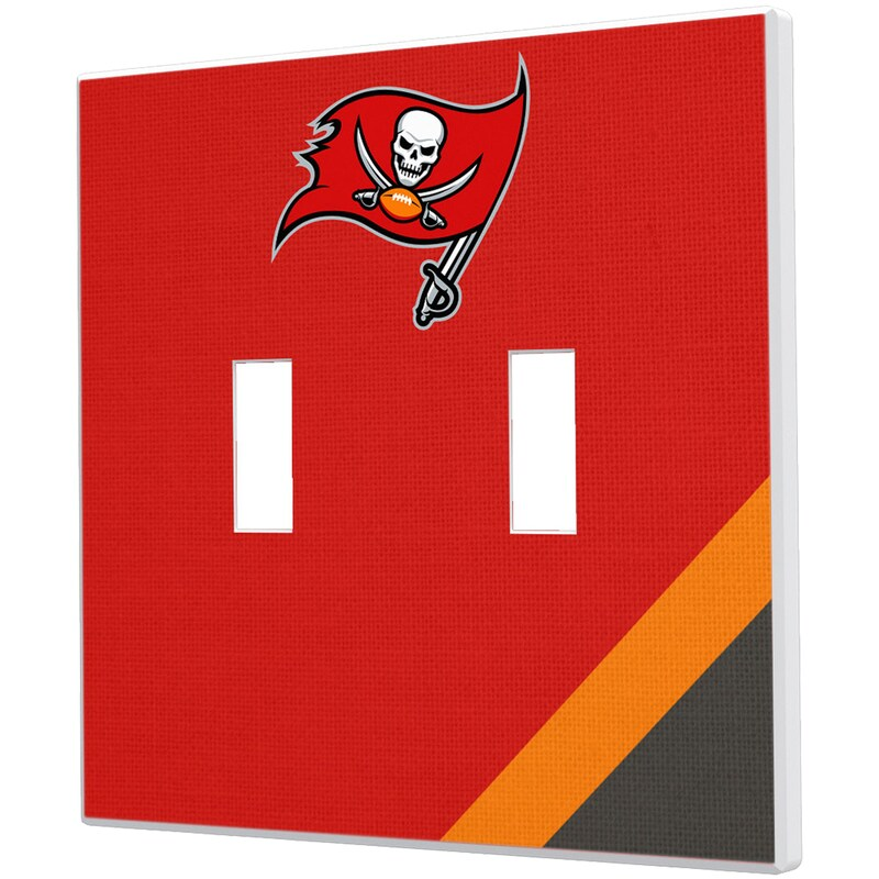 Tampa Bay Buccaneers Diagonal Stripe Double Toggle Light Switch Plate