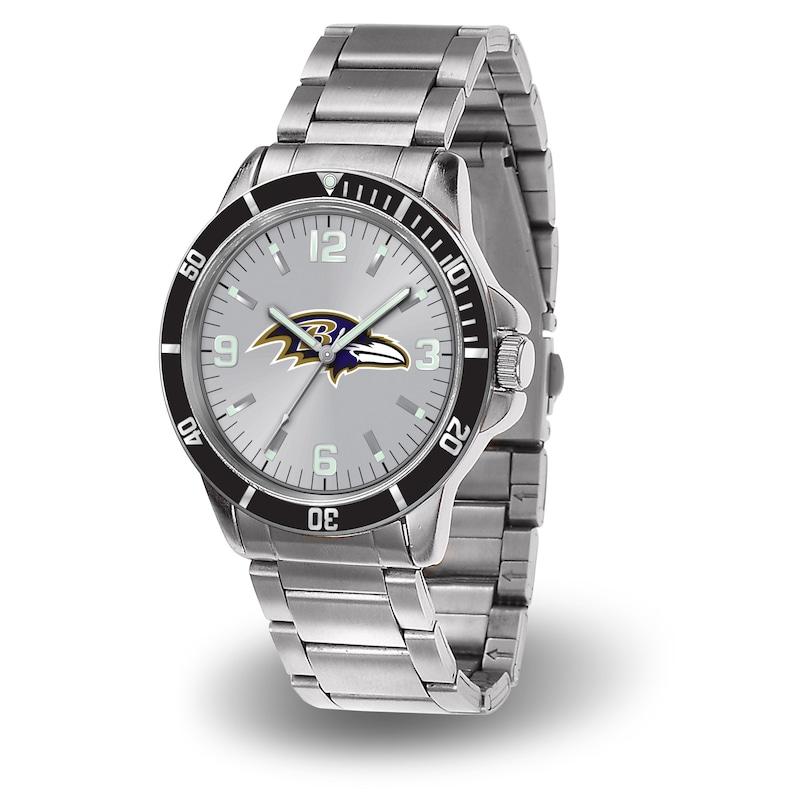 Baltimore Ravens Sparo Key Bracelet Quartz Watch - Silver