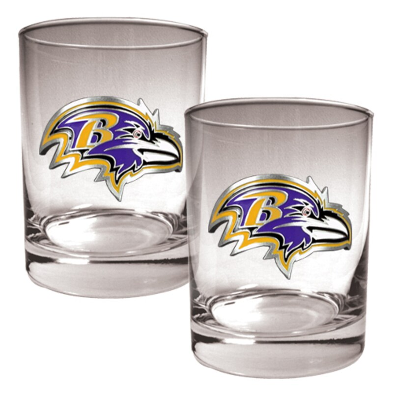 Baltimore Ravens 14oz. Rocks Glass Set