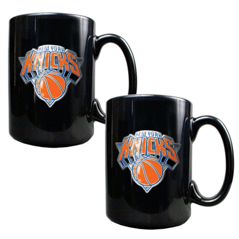 New York Knicks 15oz. Coffee Mug Set - Black