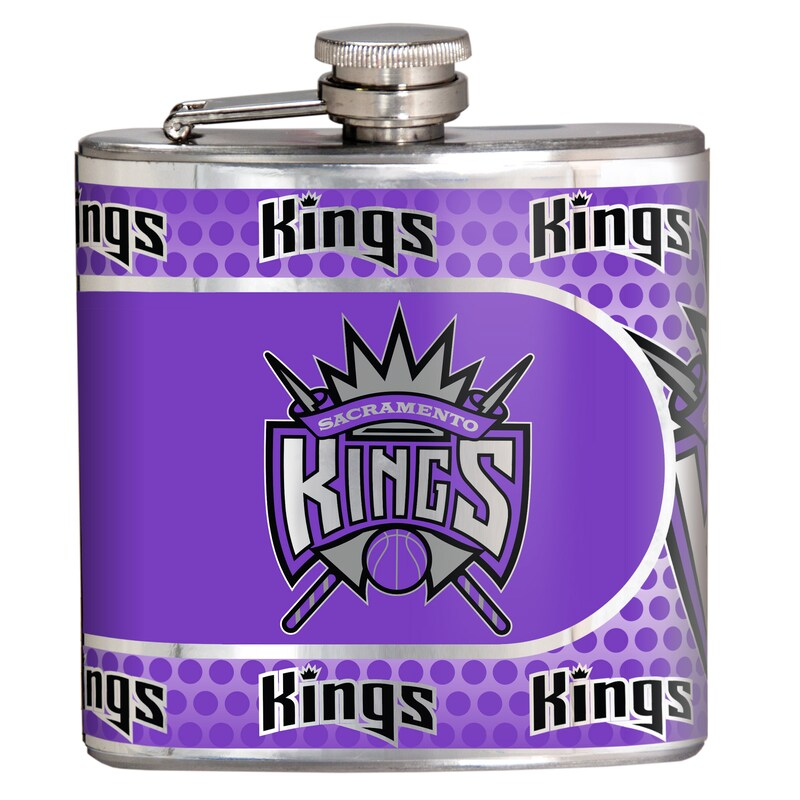 Sacramento Kings 6oz. Stainless Steel Hip Flask - Silver