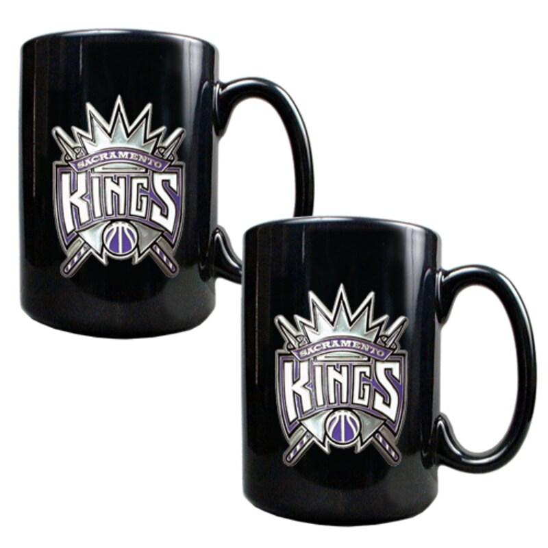 Sacramento Kings 15oz. Coffee Mug Set - Black