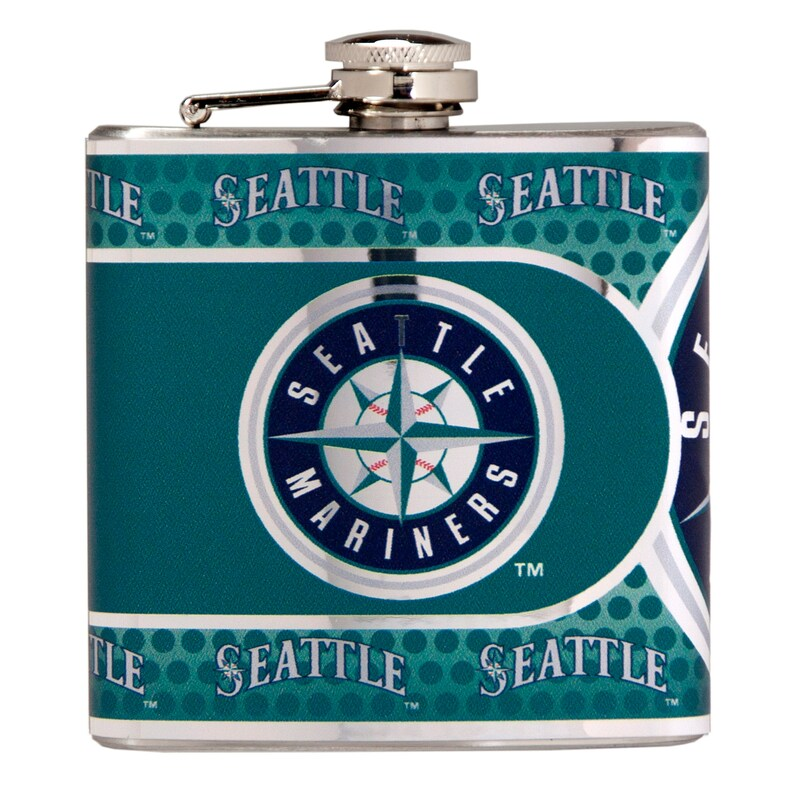 Seattle Mariners 6oz. Stainless Steel Hip Flask - Silver