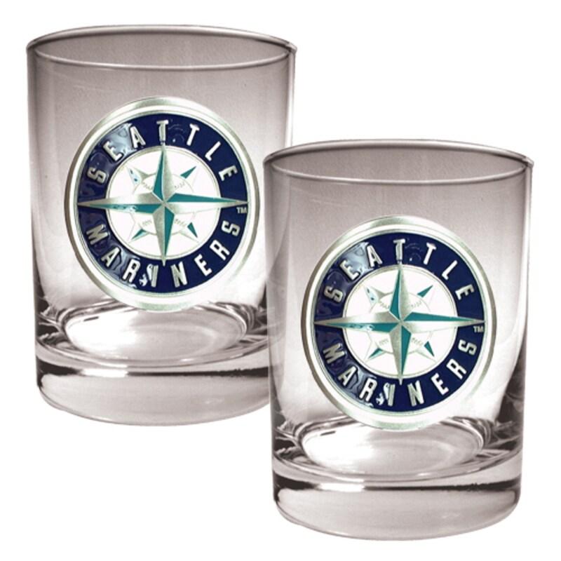 Seattle Mariners 14oz. Rocks Glass Set
