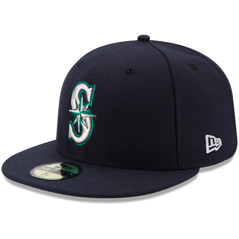 Seattle Mariners New Era Authentic Collection On Field 59FIFTY Fitted Hat - Navy