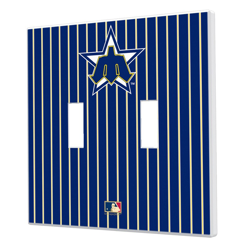 Seattle Mariners 1981-1986 Cooperstown Pinstripe Double Toggle Light Switch Plate