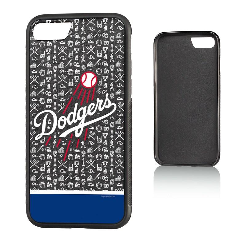 Los Angeles Dodgers iPhone 7/8 Logo Stripe Bump Case