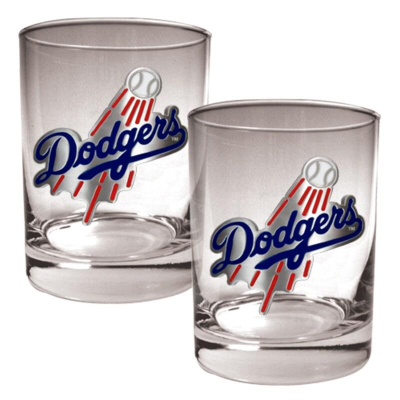 Los Angeles Dodgers 14oz. Rocks Glass Set