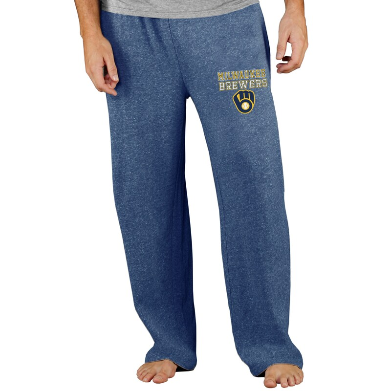 Milwaukee Brewers Concepts Sport Team Mainstream Terry Pants - Navy
