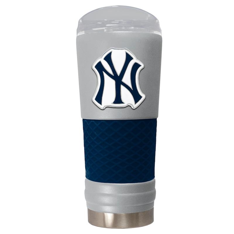 New York Yankees 24oz. Powder Coated Draft Travel Mug - Gray