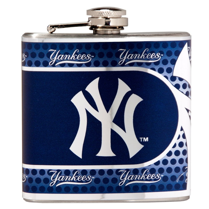 New York Yankees 6oz. Stainless Steel Hip Flask - Silver
