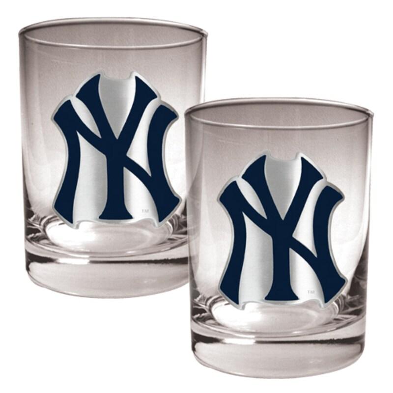 New York Yankees 14oz. Rocks Glass Set