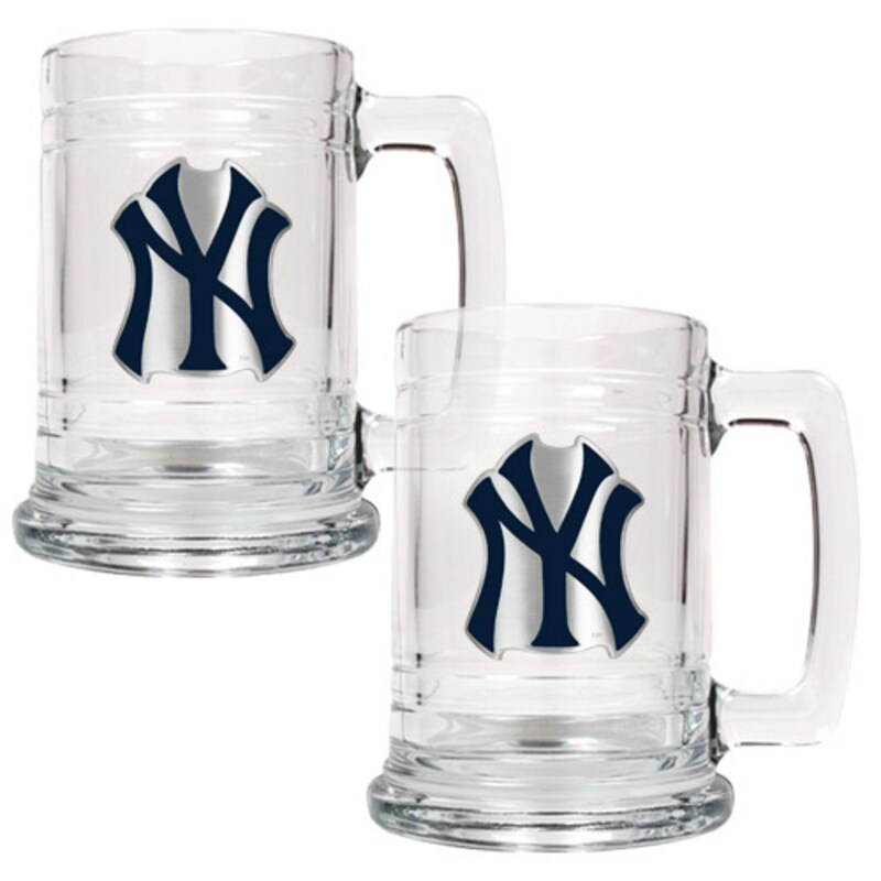 New York Yankees 2-Piece 15oz. Tankard Set