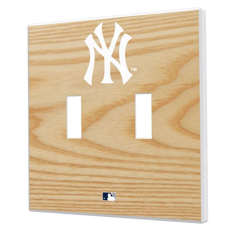 New York Yankees Baseball Bat Design Double Toggle Light Switch Plates