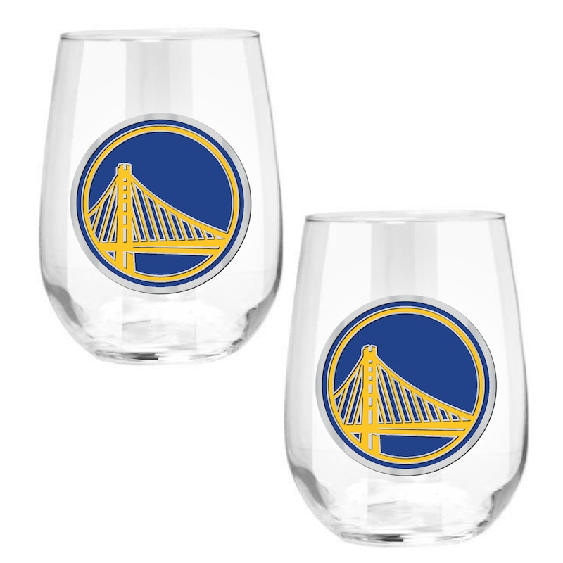 Golden State Warriors Stemless Wine Glass Set