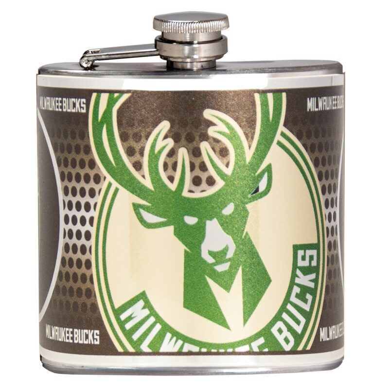 Milwaukee Bucks 6oz. Stainless Steel Hip Flask - Silver
