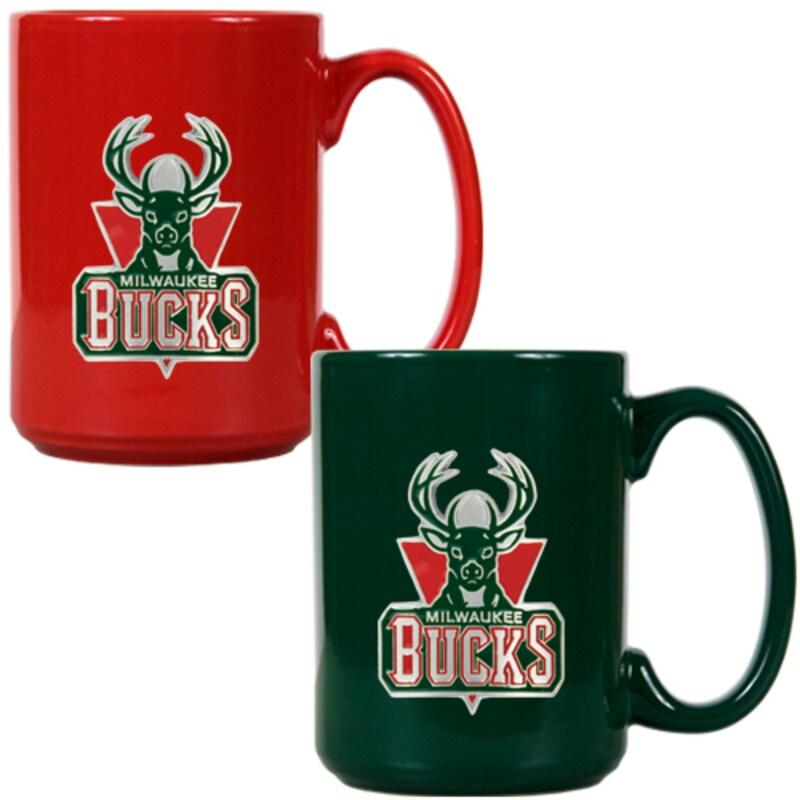 Milwaukee Bucks 15oz. Coffee Mug Set