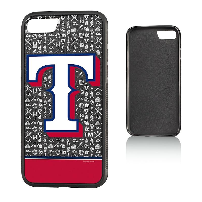 Texas Rangers iPhone 7/8 Logo Stripe Bump Case