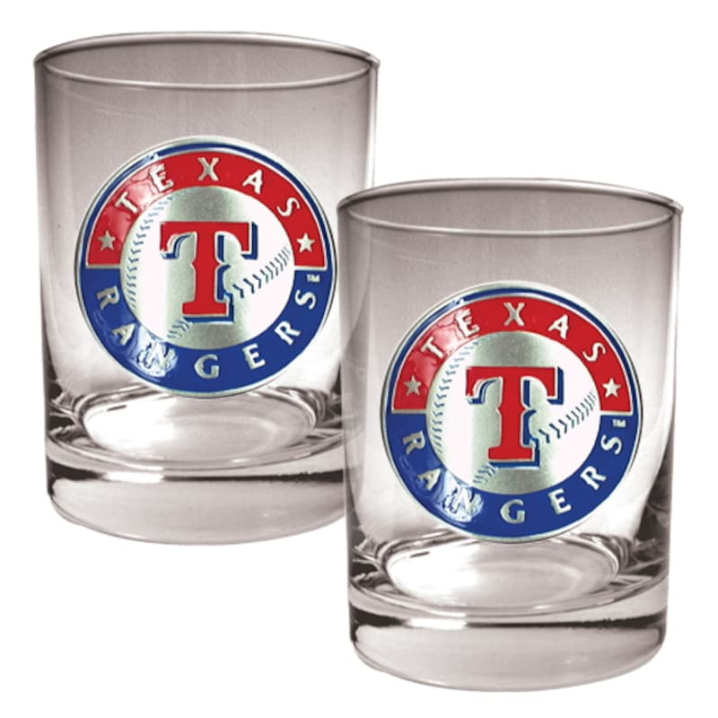 Texas Rangers 14oz. Rocks Glass Set