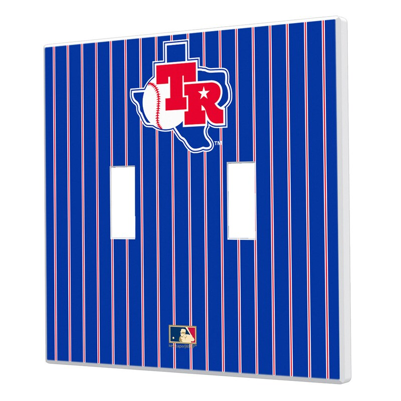 Texas Rangers 1981-1983 Cooperstown Pinstripe Double Toggle Light Switch Plate
