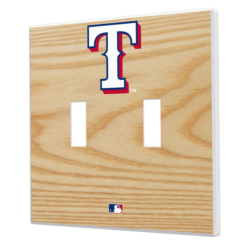 Texas Rangers Baseball Bat Design Double Toggle Light Switch Plates