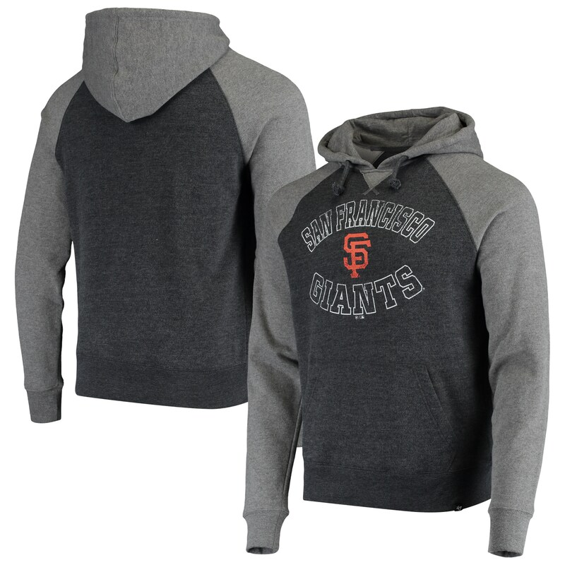 San Francisco Giants '47 Match Raglan Pullover Hoodie - Black