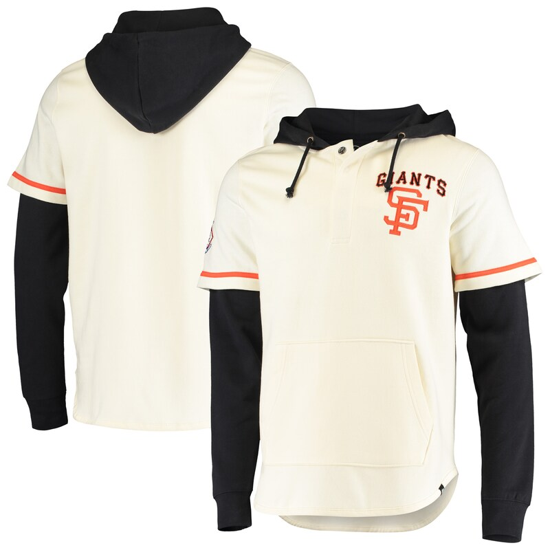 San Francisco Giants '47 Heritage Shortstop Jersey Four-Snap Hoodie - Cream