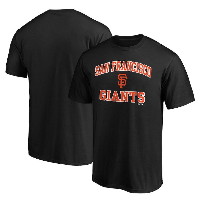 San Francisco Giants Fanatics Branded Heart & Soul T-Shirt - Black